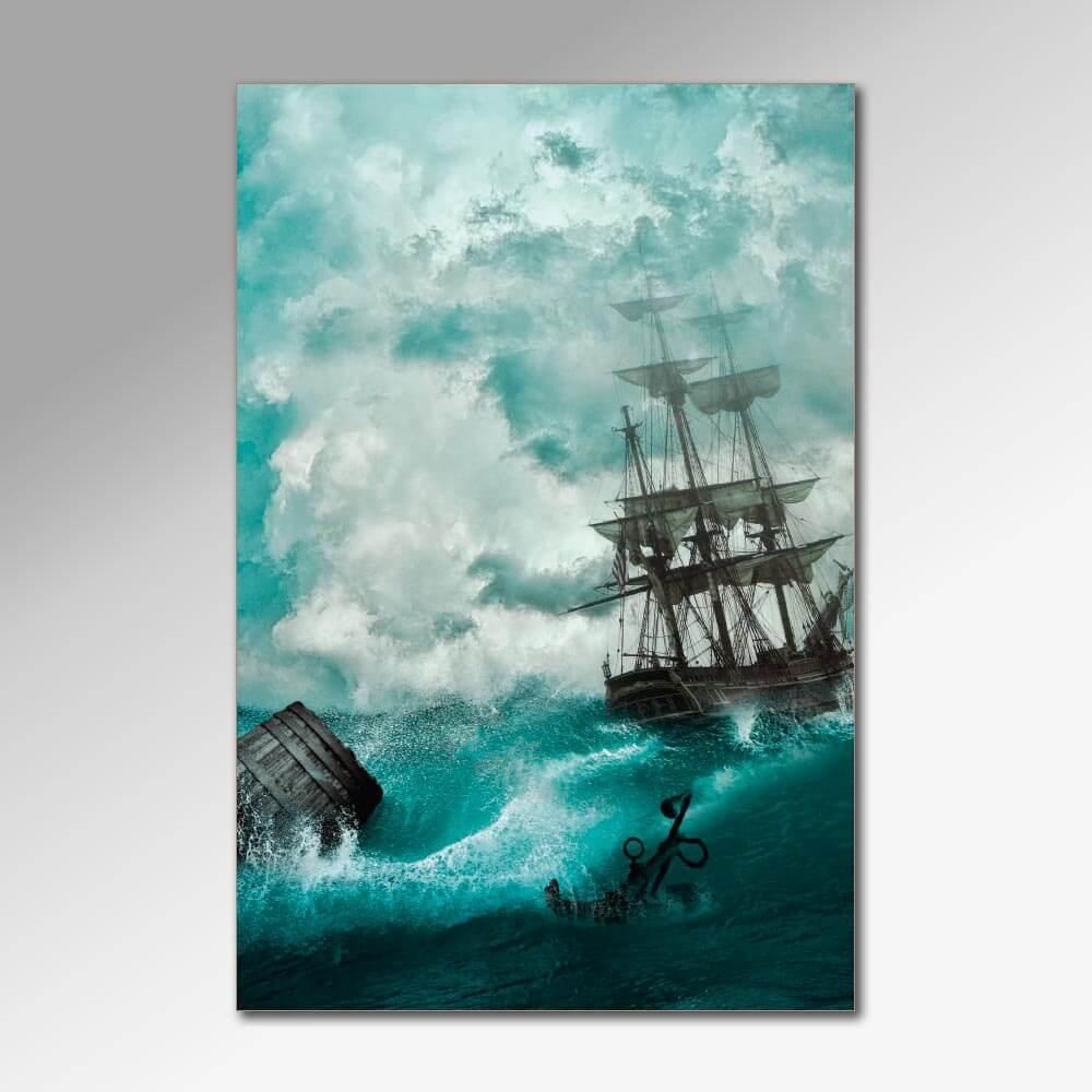 Placa Decorativa - Barcos 2