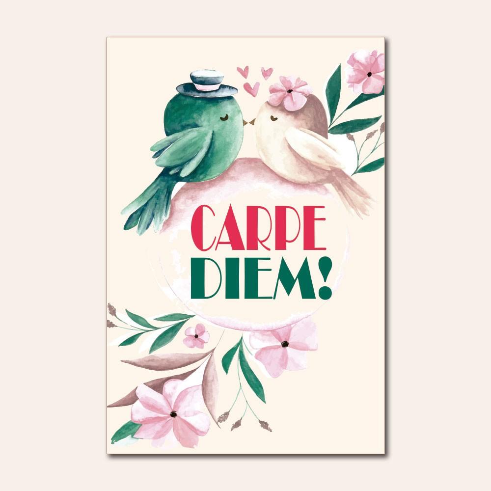 Placa Decorativa - Carpe Diem, Família, Viva a Vida