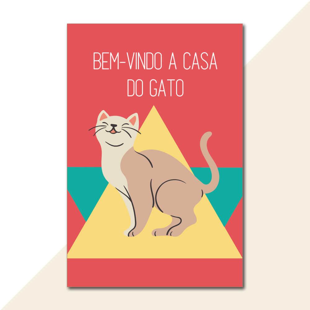 Placa Decorativa - Casa do Gato