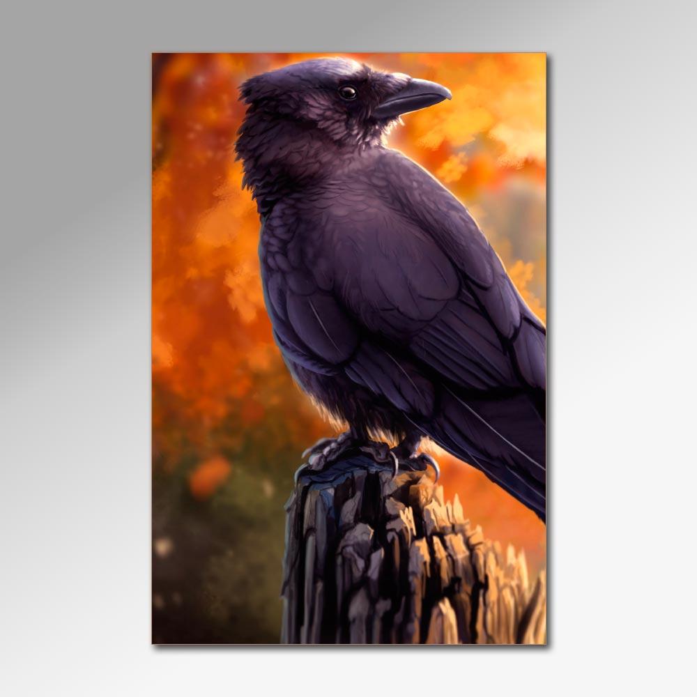 Placa Decorativa - Corvos