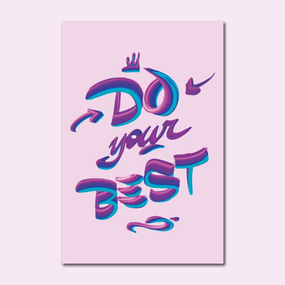 Placa Decorativa - Do Your Best