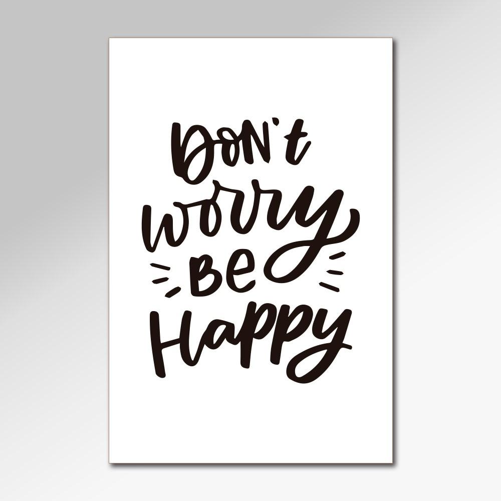 Placa Decorativa - Don't Worry
