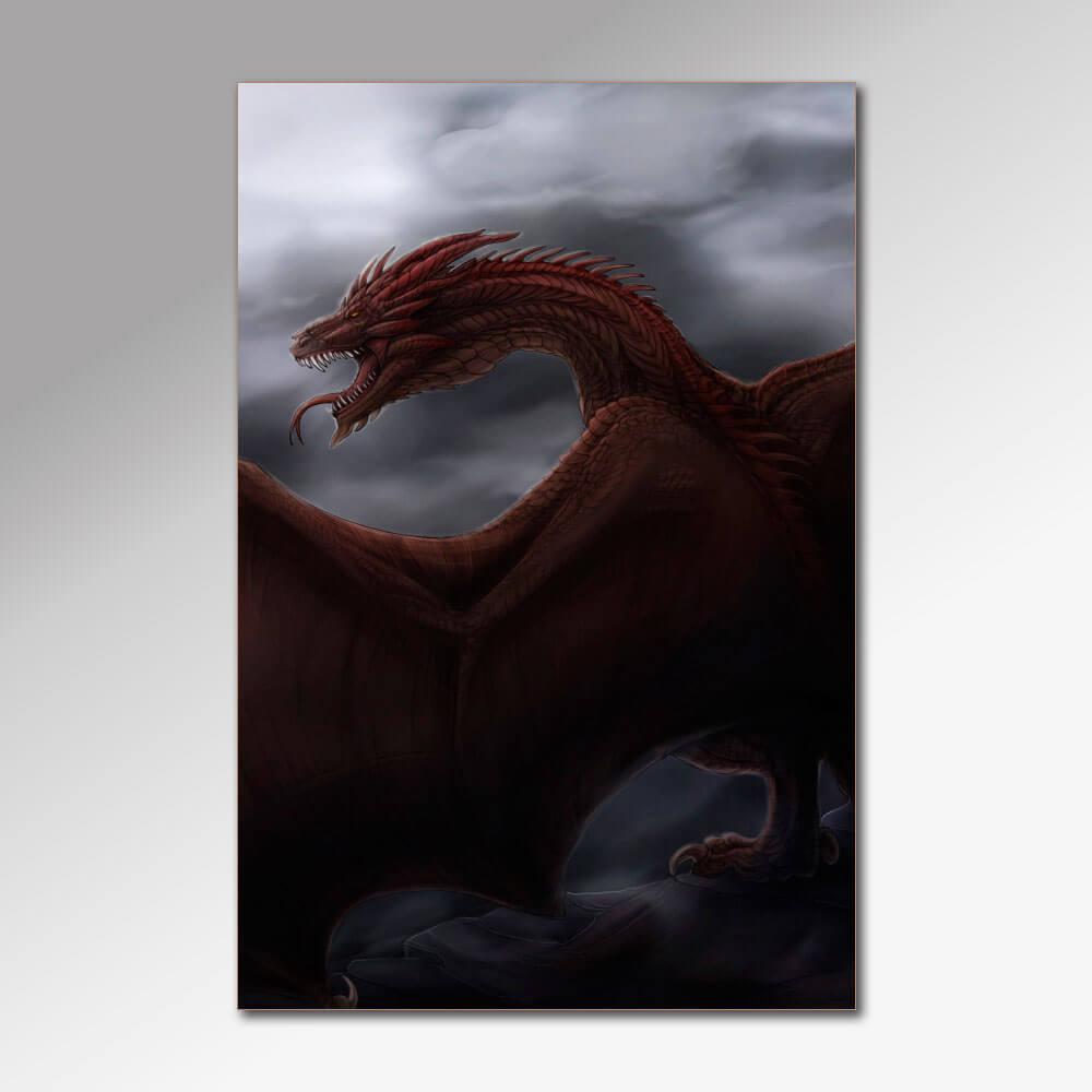 Placa Decorativa - Dragões