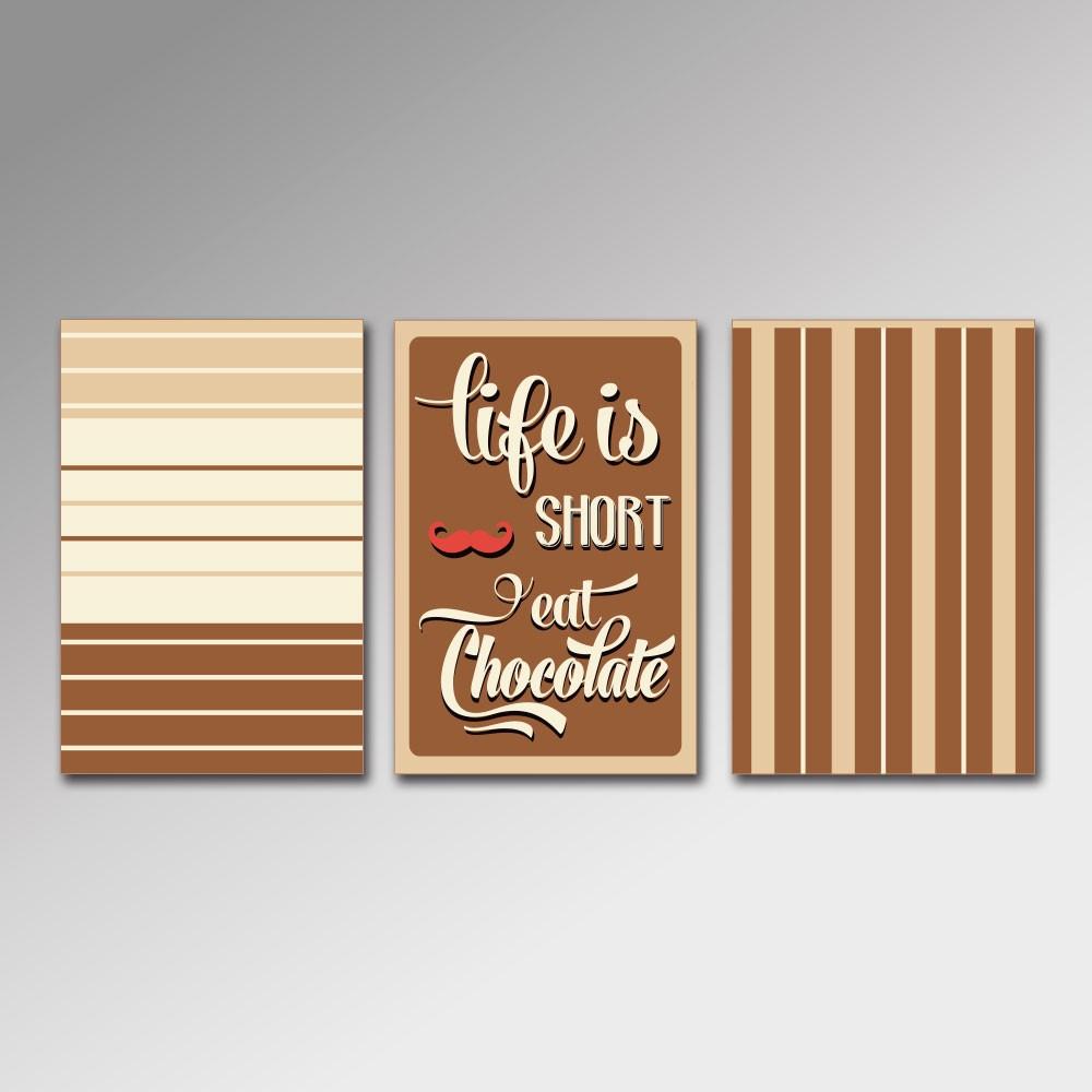 Placa Decorativa - Eat Chocolate