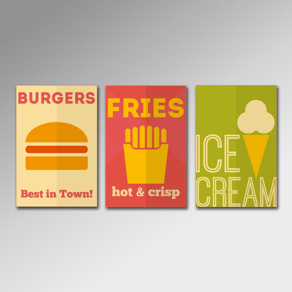 Placa Decorativa - Fast Food