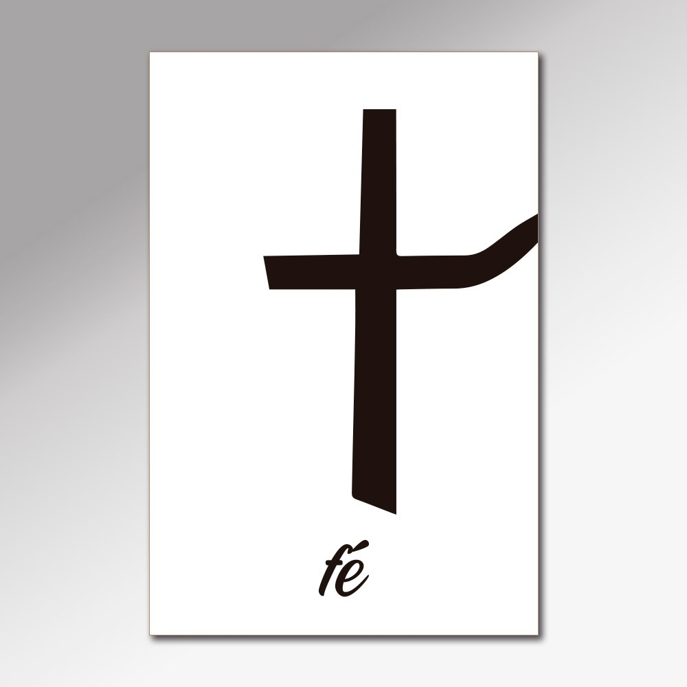 Placa Decorativa - Fé, Esperança e Amor