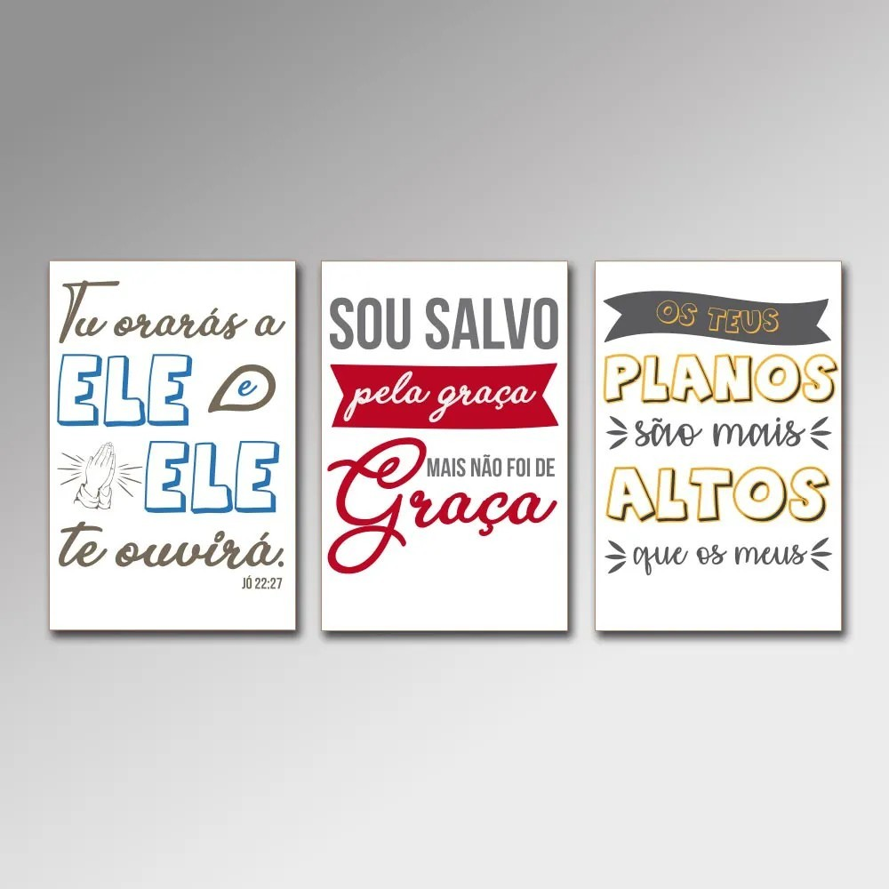 Placa Decorativa - Frases Cristãs