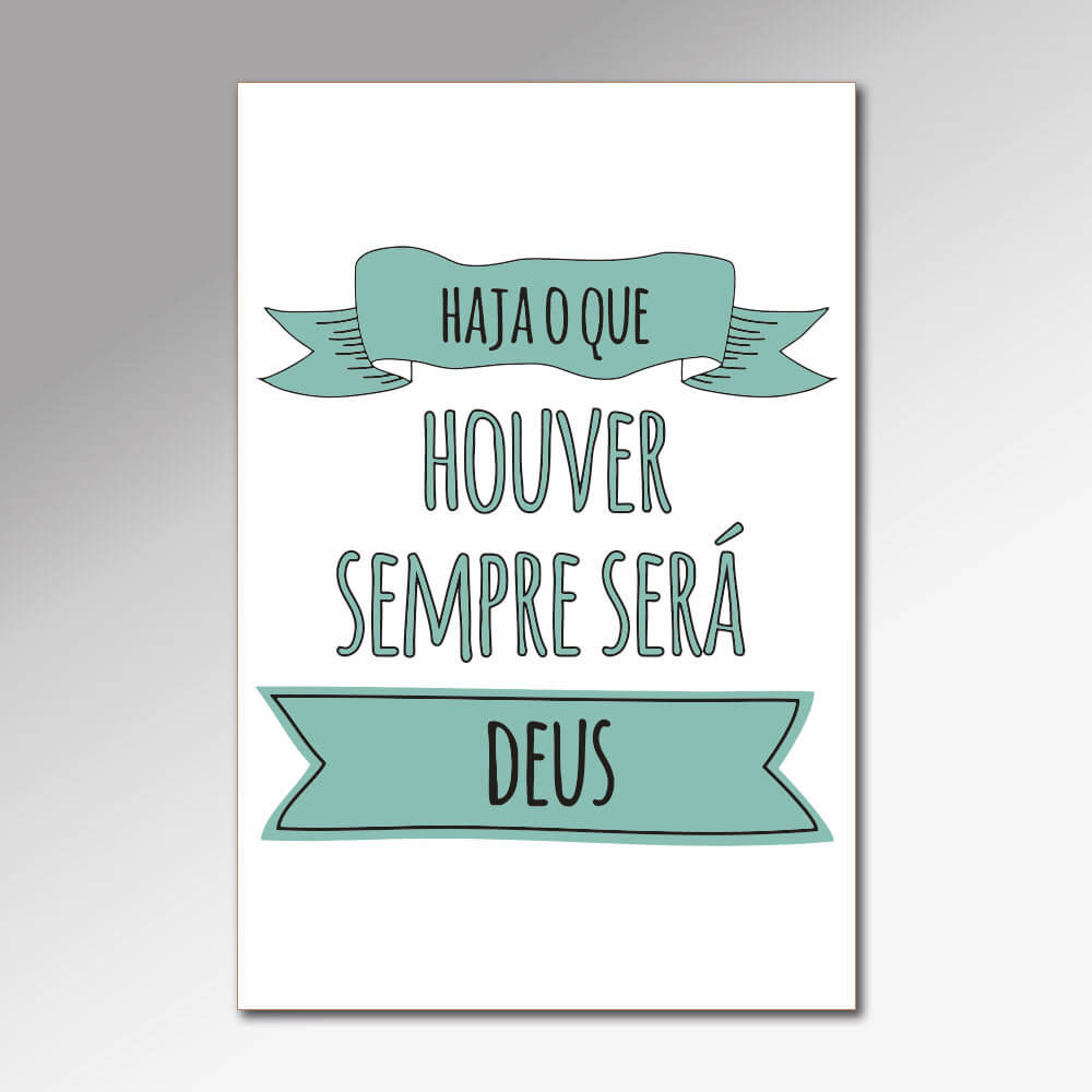 Placa Decorativa - Frases Cristãs 2