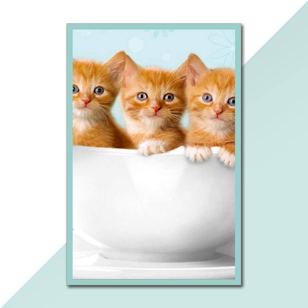 Placa Decorativa - Gatinhos
