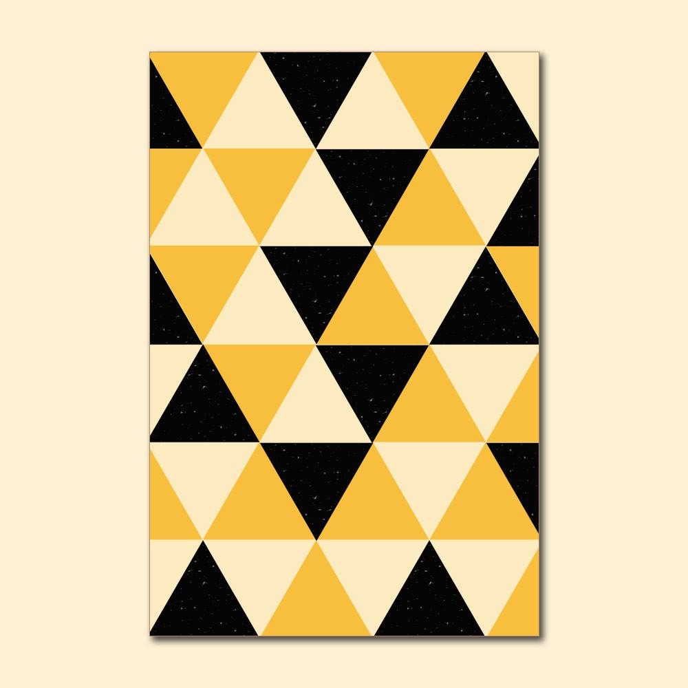 Placa Decorativa - Geométrico Amarelo