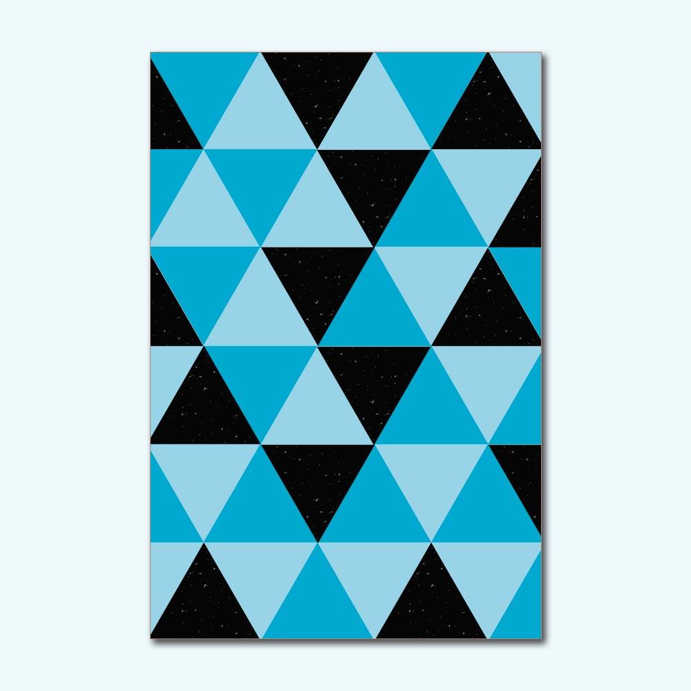 Placa Decorativa - Geométrico Azul
