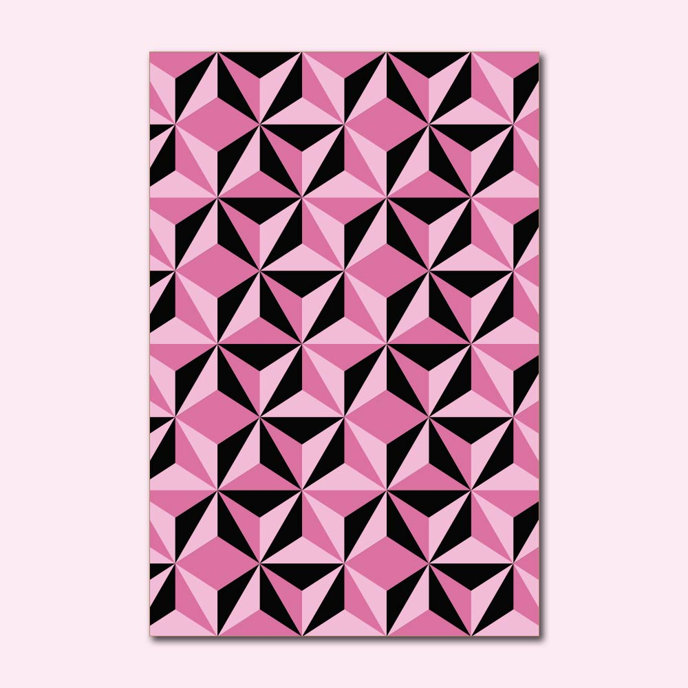 Placa Decorativa - Geométrico Rosa