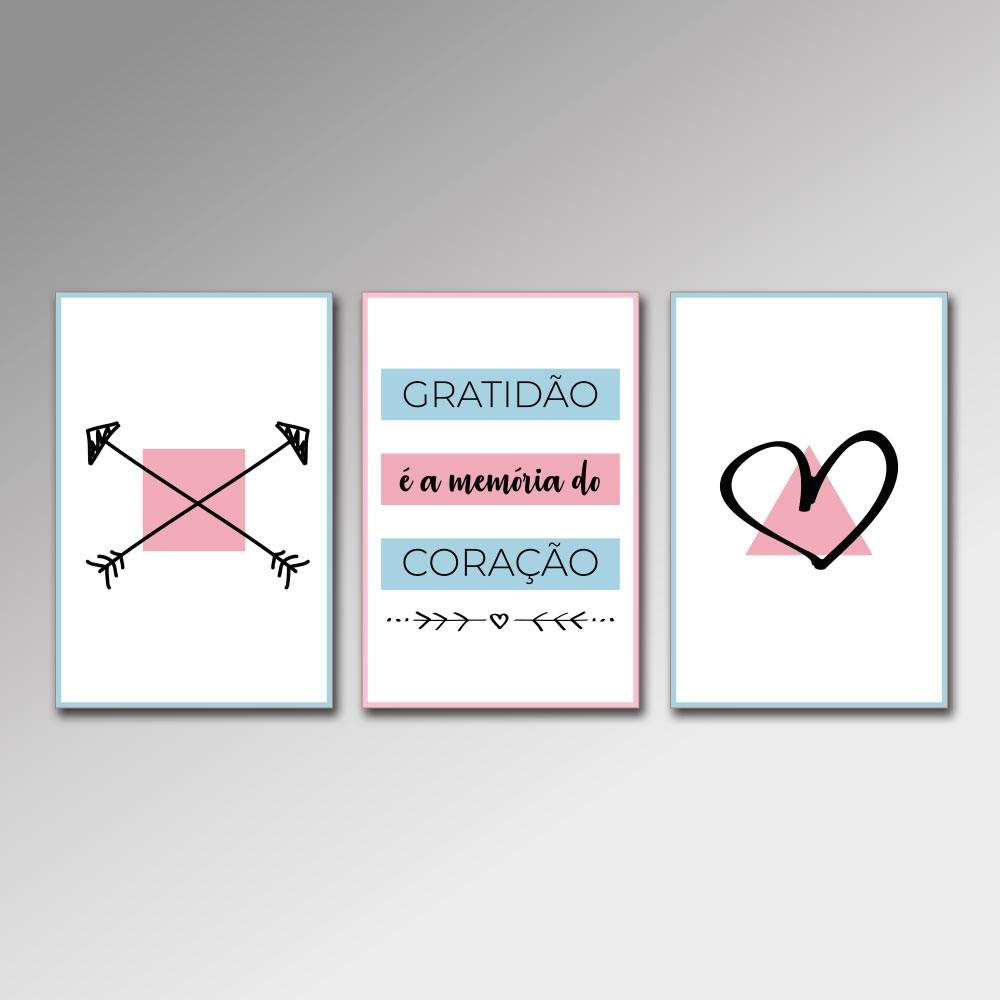 Placa Decorativa - Gratidão é a Memória do Coração