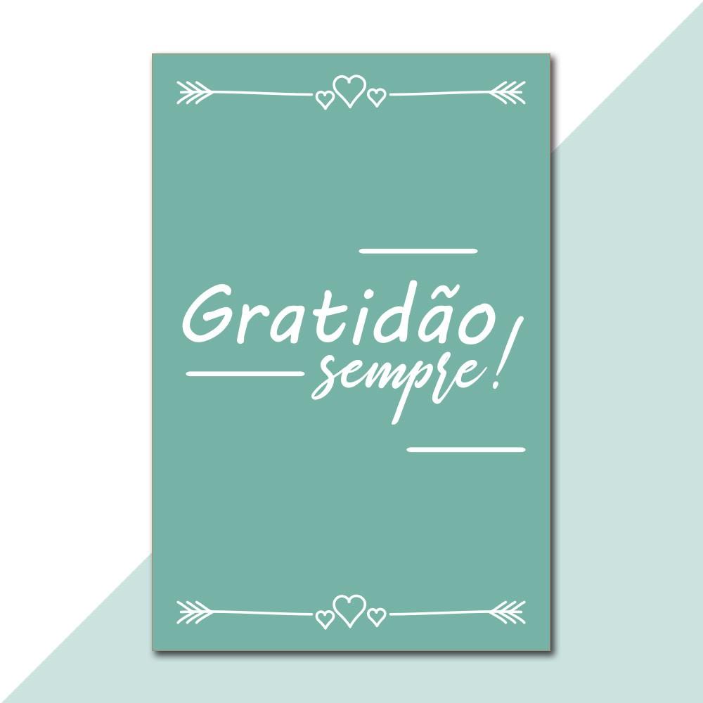 Placa Decorativa - Gratidão Sempre