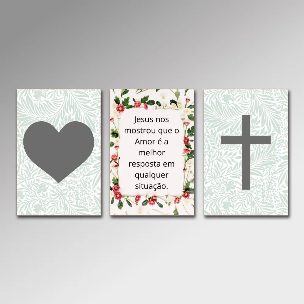 Placa Decorativa - Jesus Nos Mostrou Amor