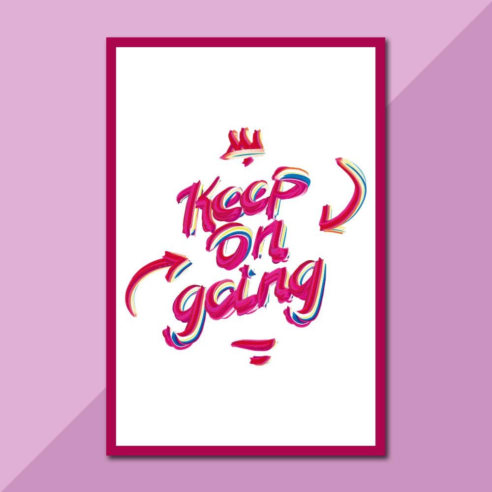 Placa Decorativa - Keep On Going