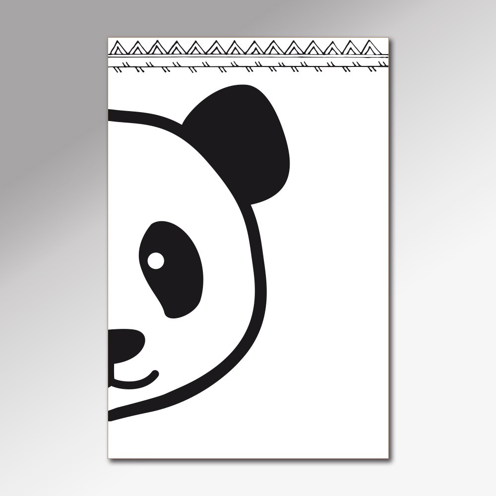 Placa Decorativa - Little Panda
