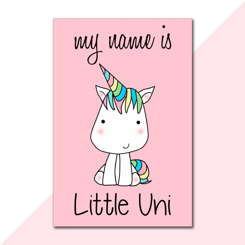 Placa Decorativa - Little Uni