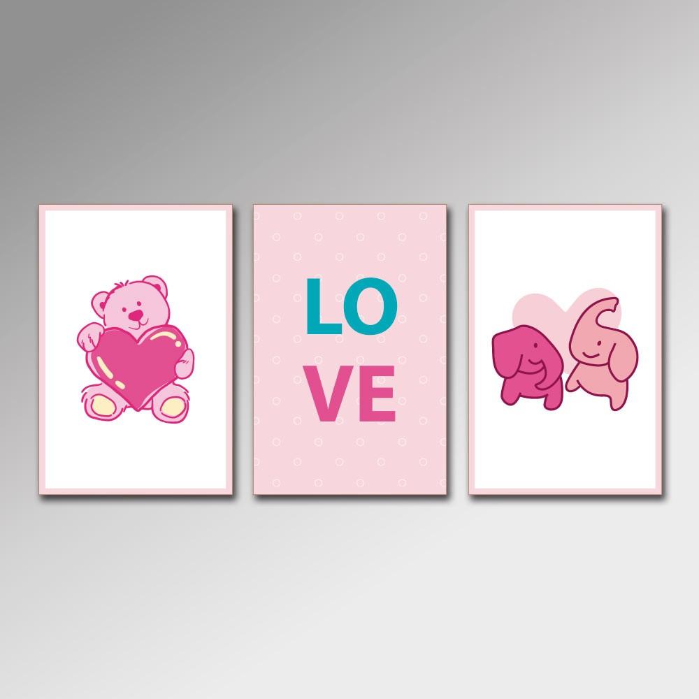 Placa Decorativa - Love Kids