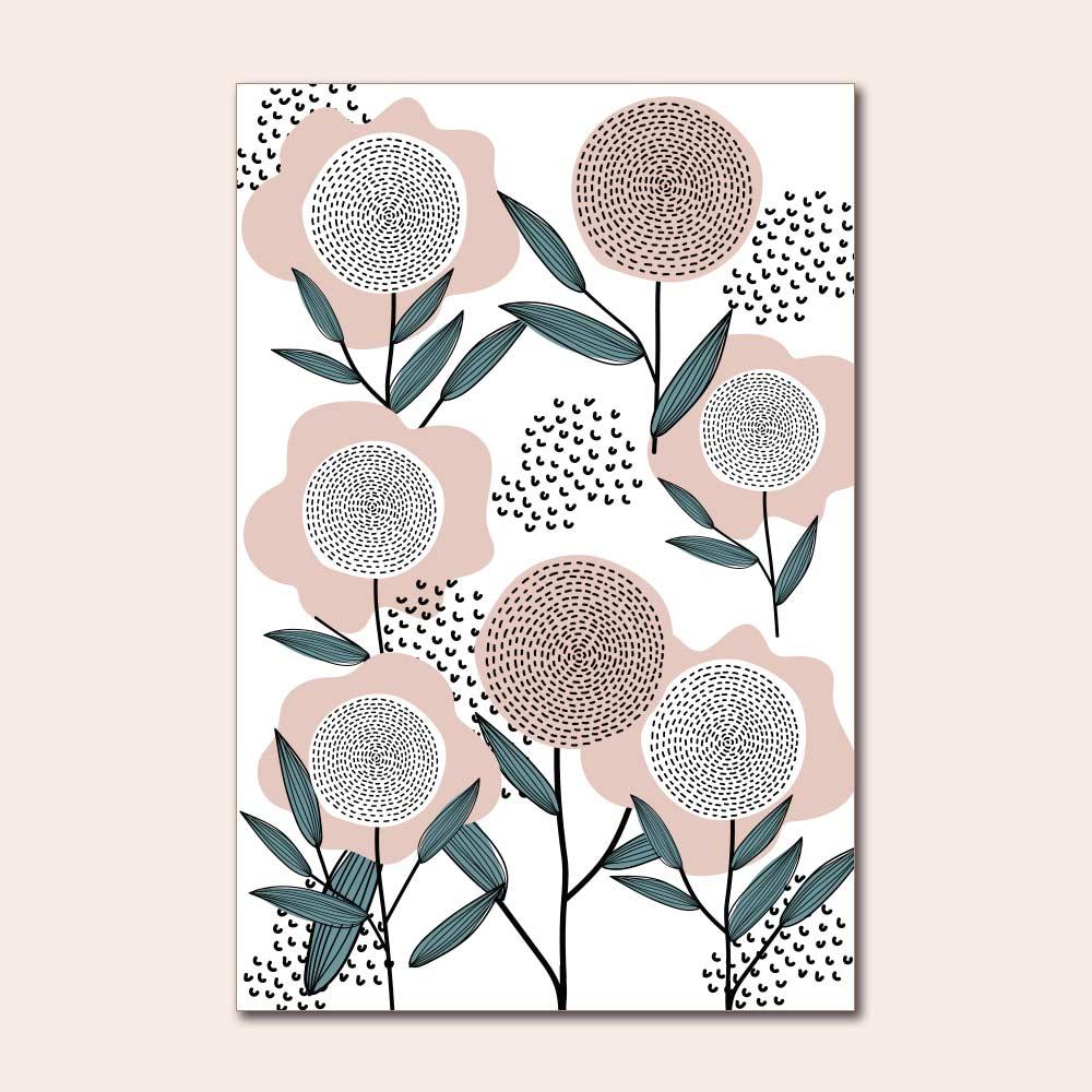 Placa Decorativa - Mini Floral