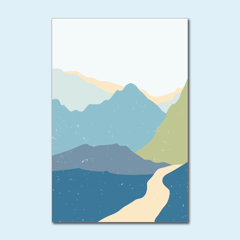 Placa Decorativa - Montanhas