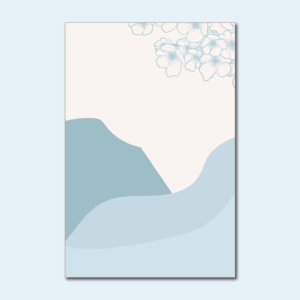 Placa Decorativa - Montanhas Azuis