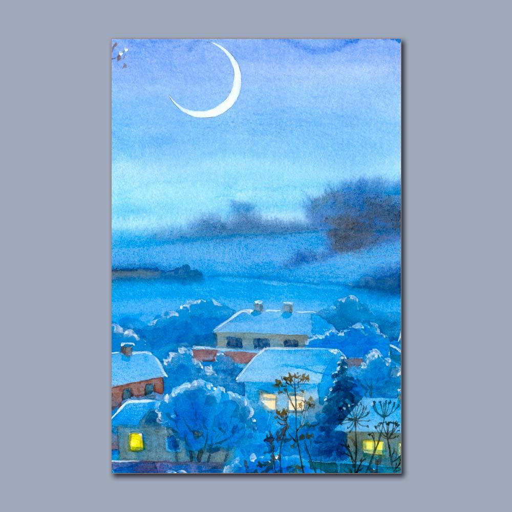 Placa Decorativa - Noite