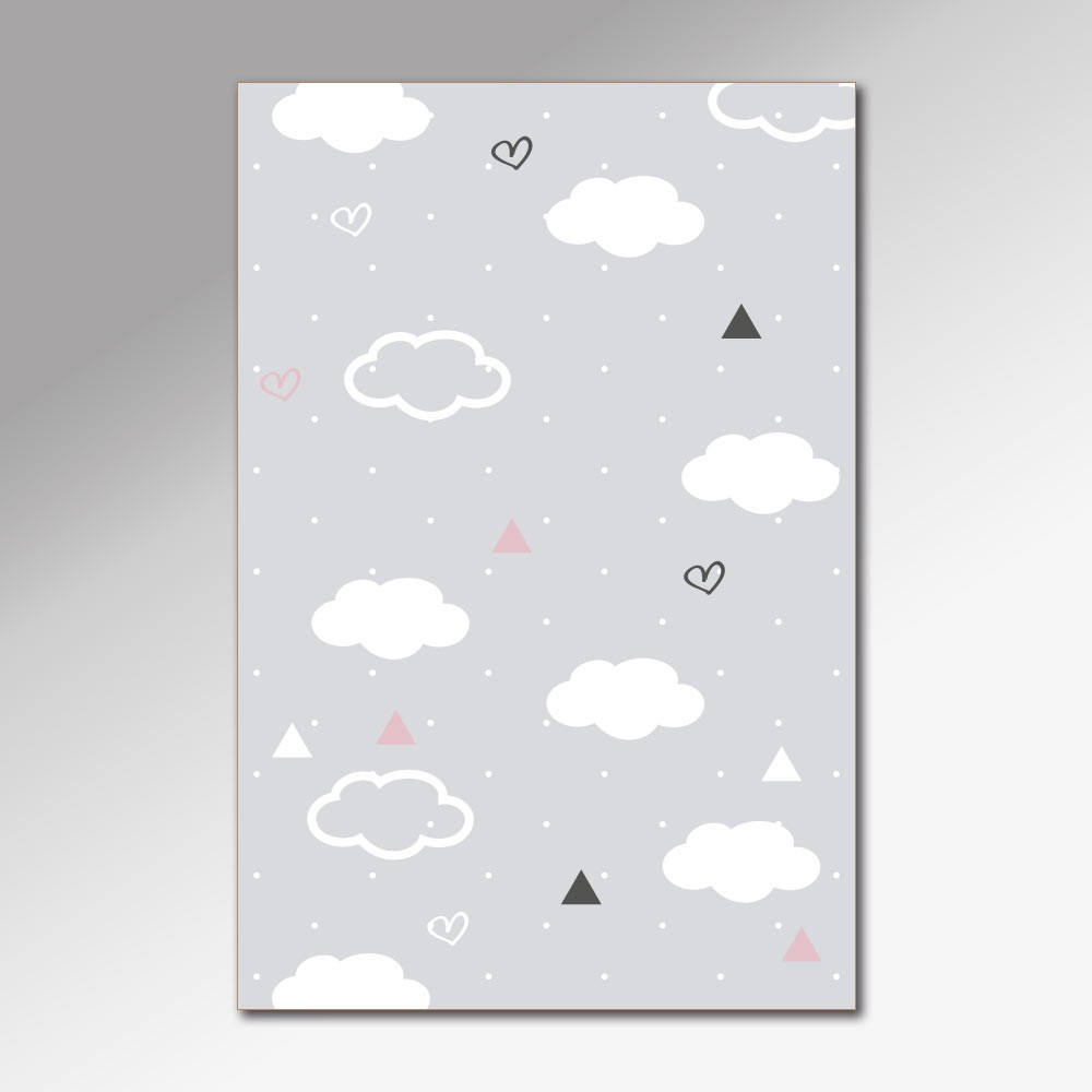 Placa Decorativa - Nuvem Simpática