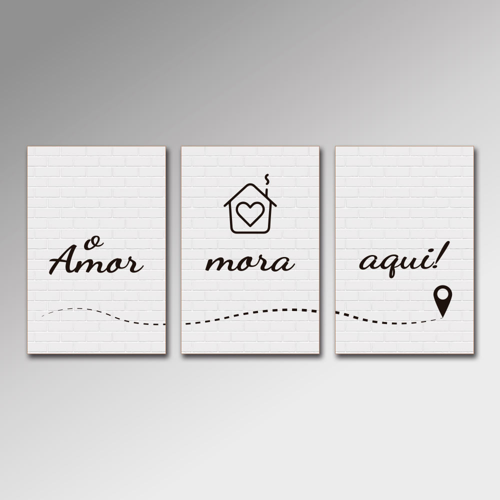 Placa Decorativa - O Amor Mora Aqui