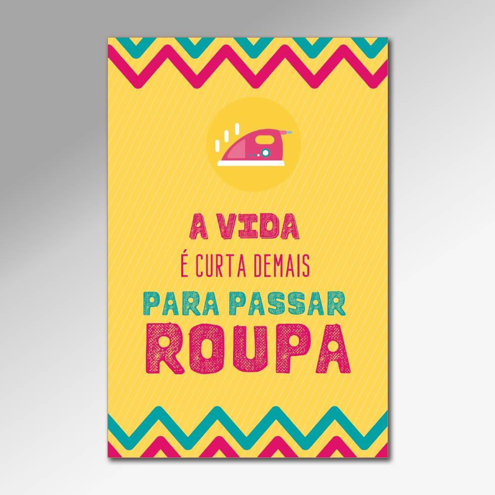 Placa Decorativa - Passar Roupa
