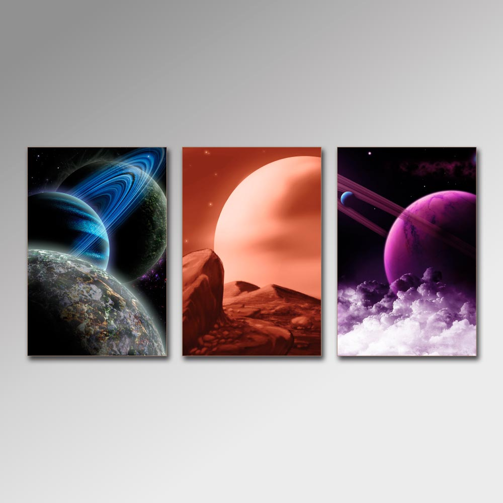 Placa Decorativa - Planetas
