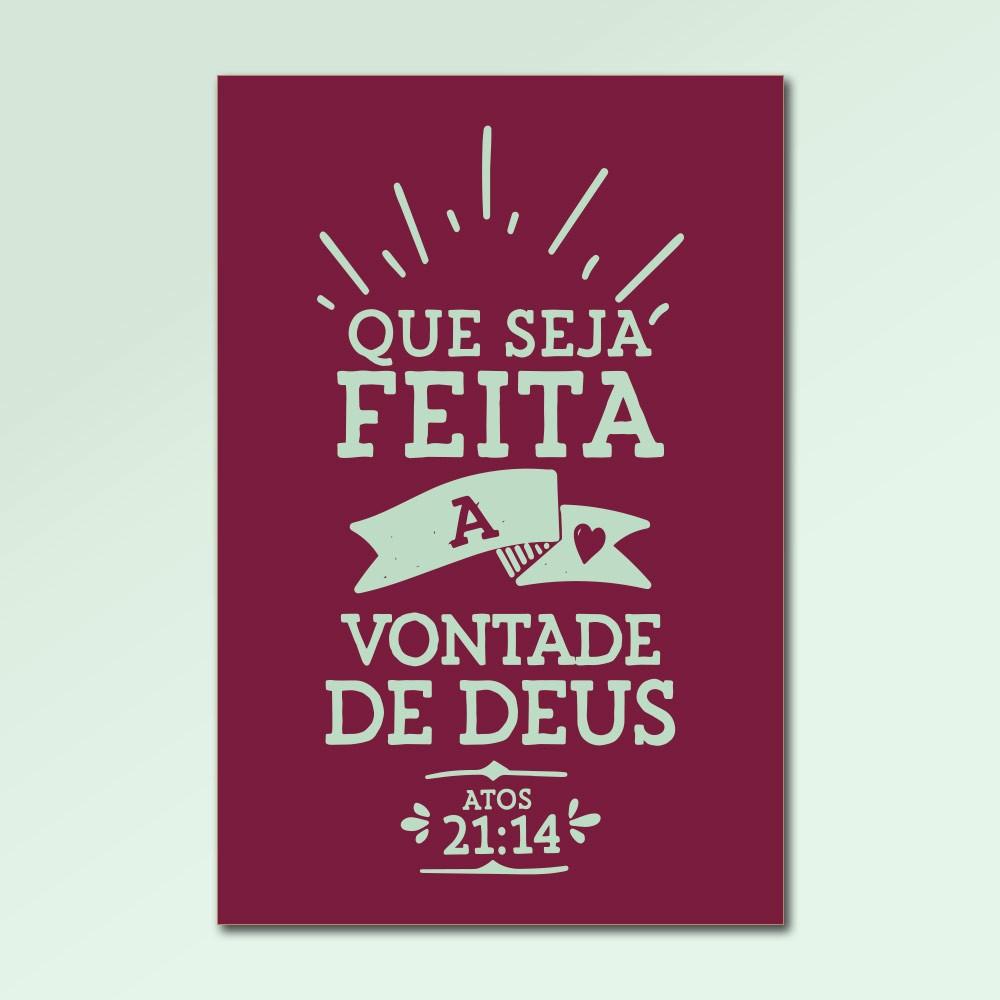 Placa Decorativa - Que Seja Feita a Vontade de Deus