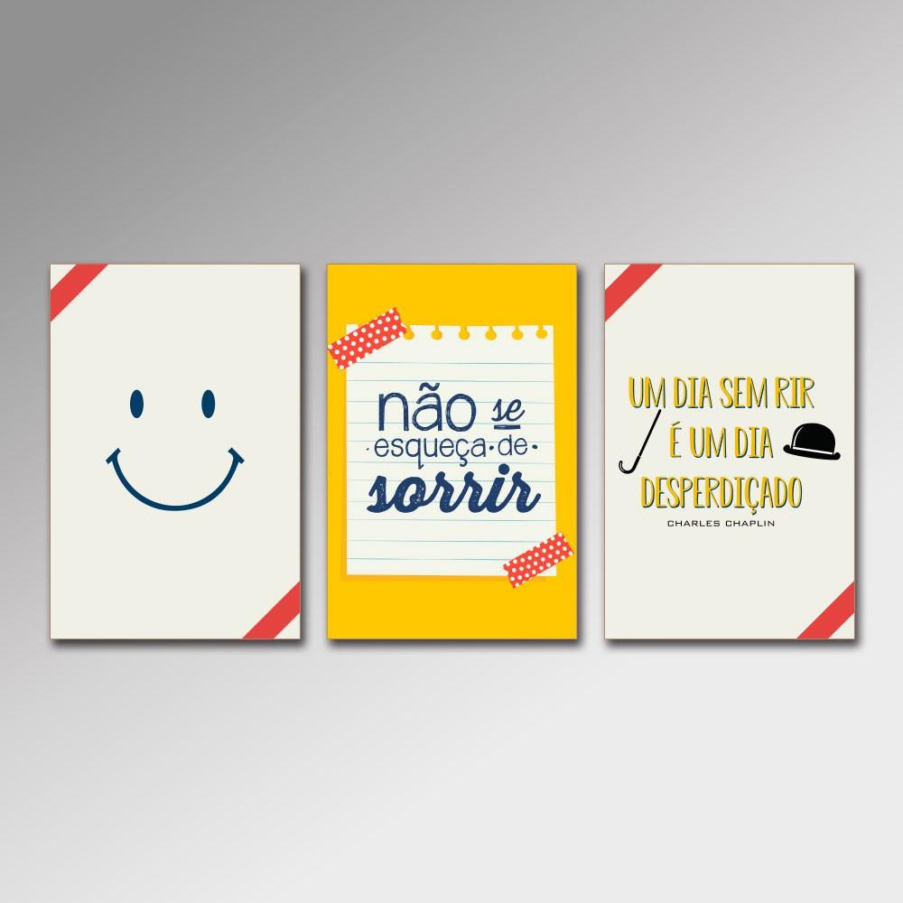 Placa Decorativa - Sorria