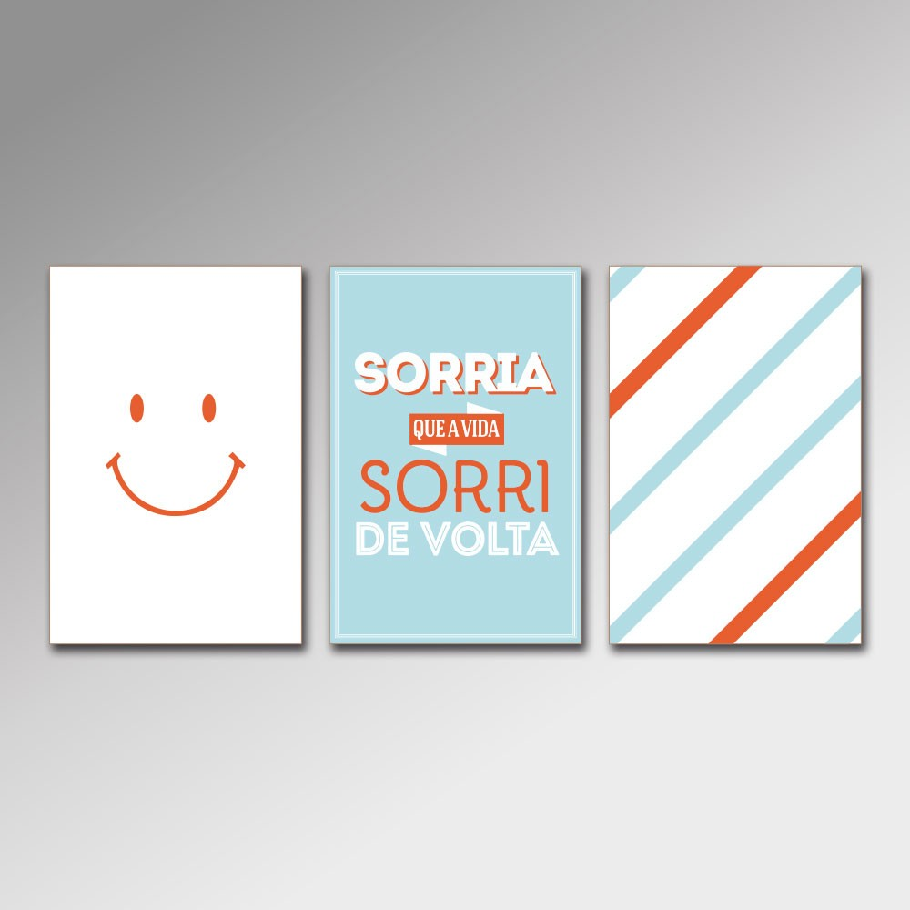 Placa Decorativa - Sorria 2
