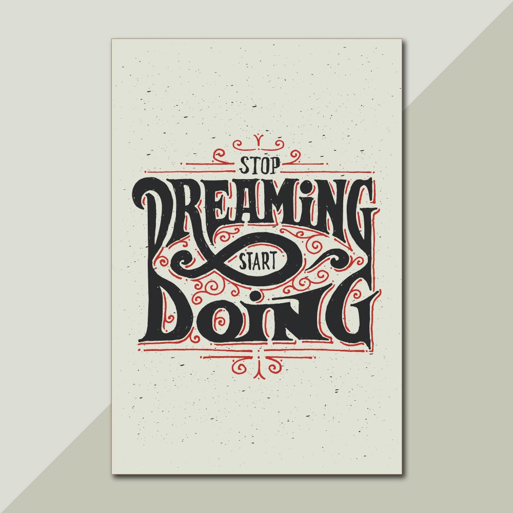 Placa Decorativa - Stop Dreaming, Start Doing