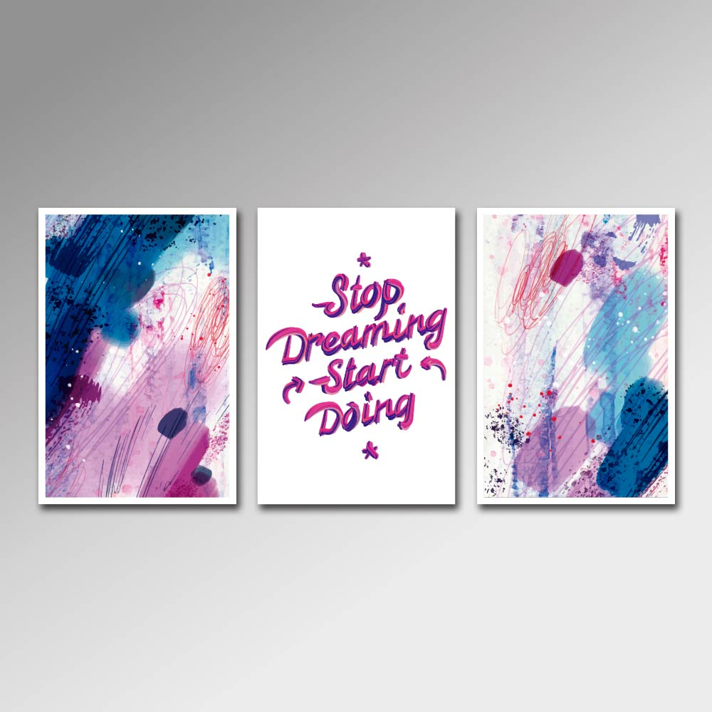 Placa Decorativa - Stop Dreaming, Start Doing 2