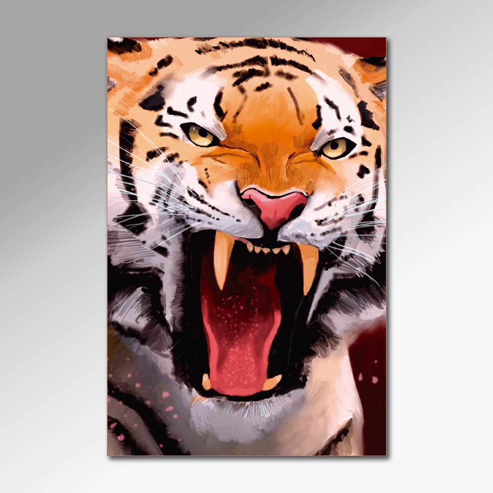 Placa Decorativa - Tigres