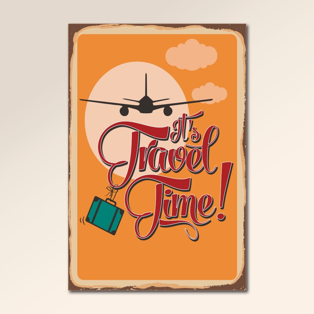 Placa Decorativa - Travel Time