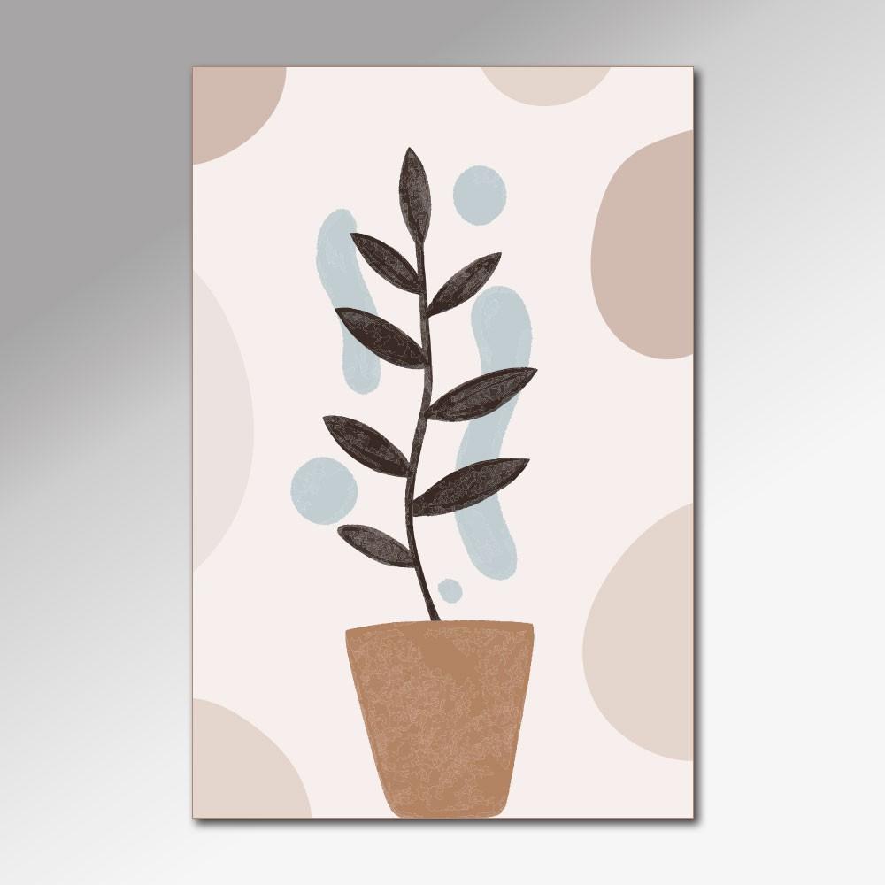 Placa Decorativa - Vaso de Planta