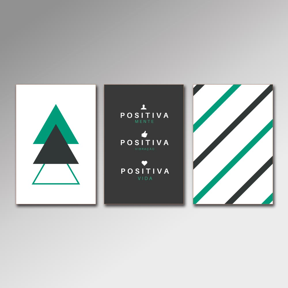 Placa Decorativa - Vida Positiva