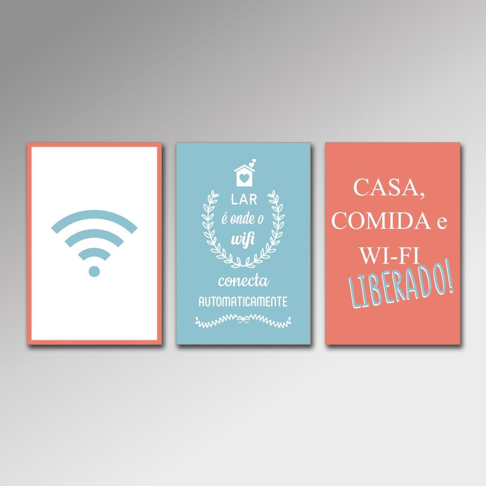 Placa Decorativa - Wi-Fi