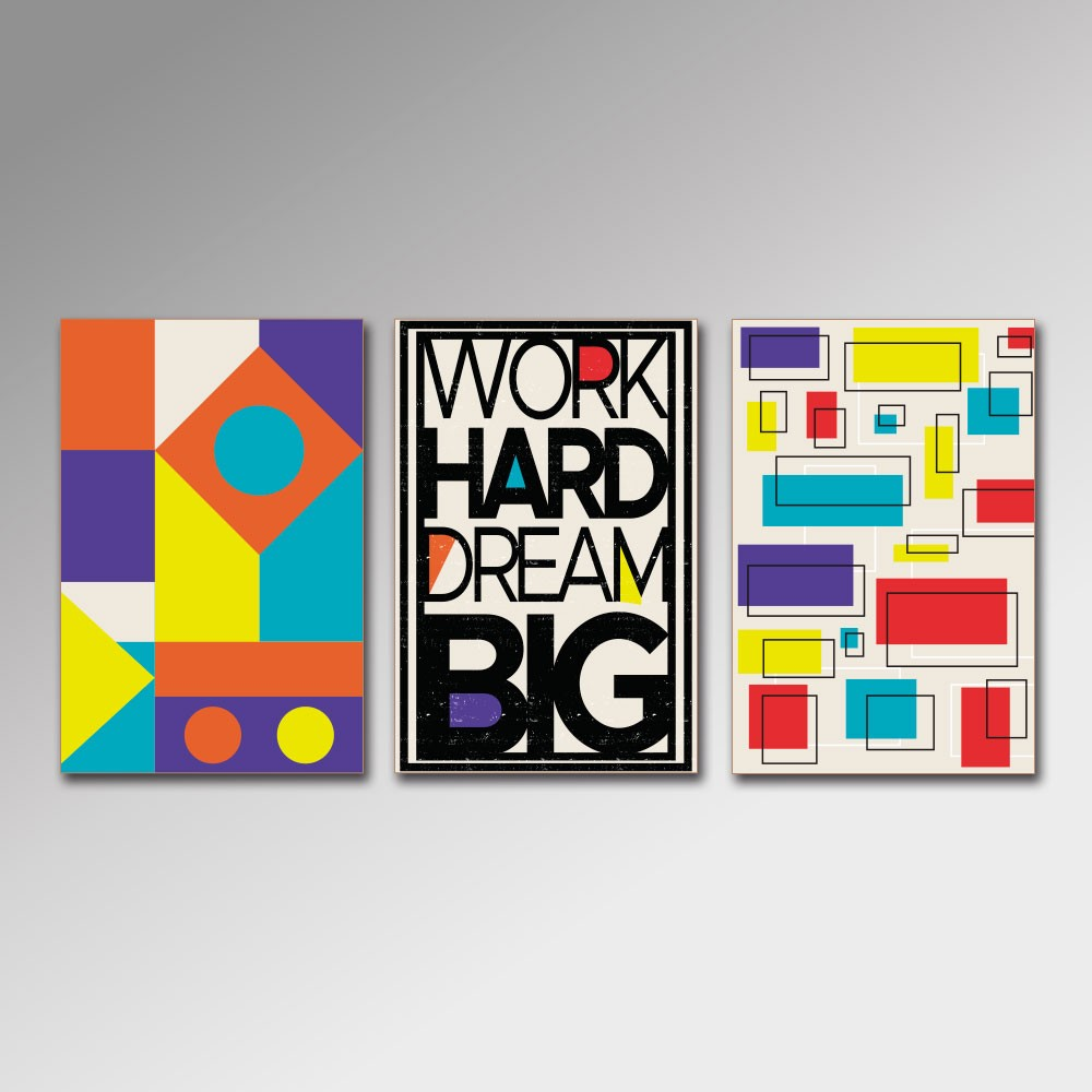 Placa Decorativa - Work Hard 2