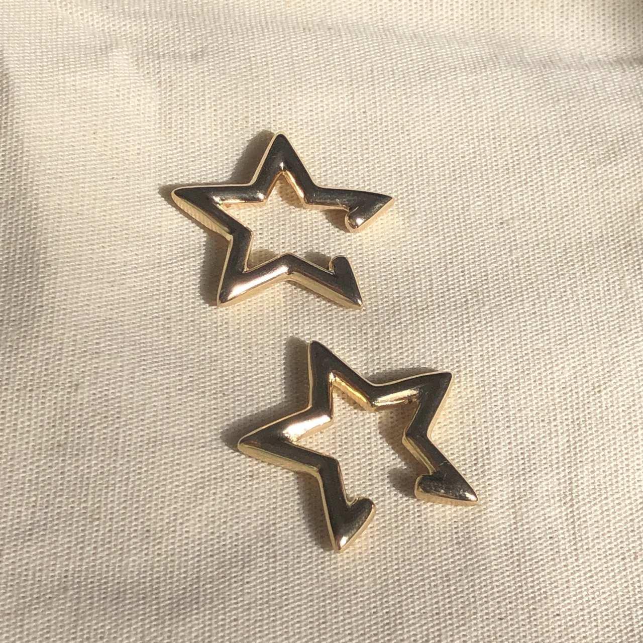 Piercing Estrela Banho Ouro