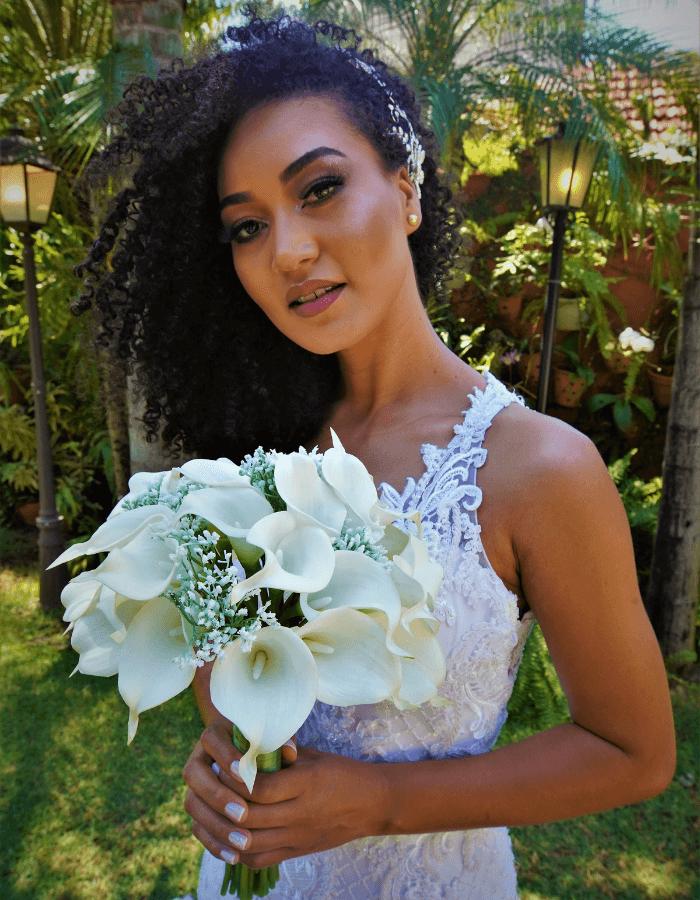 Buque de Noiva Siena Branco | Coleção Amor Eterno