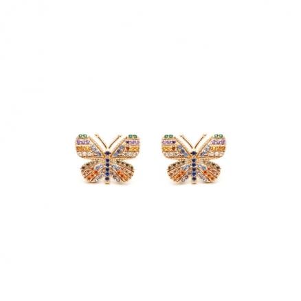 Brinco borboleta Colorida