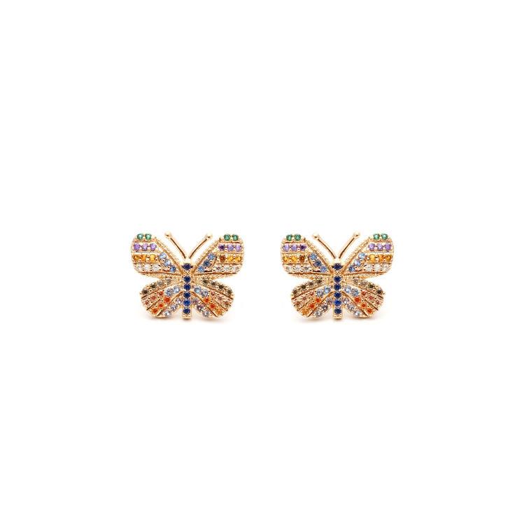 Brinco borboleta Colorida  - Sylvia Cinquetti
