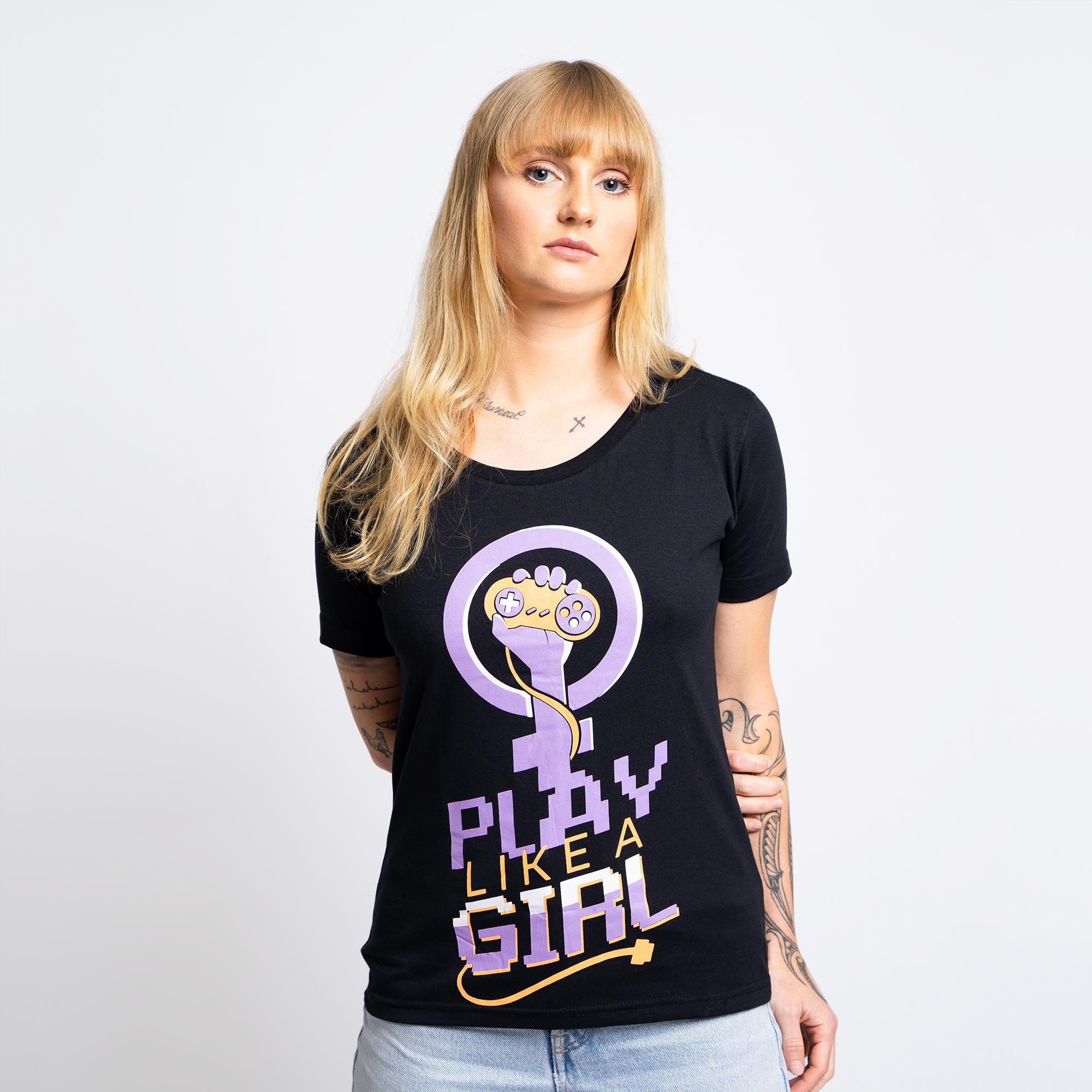 Baby Look Girl Player Preta