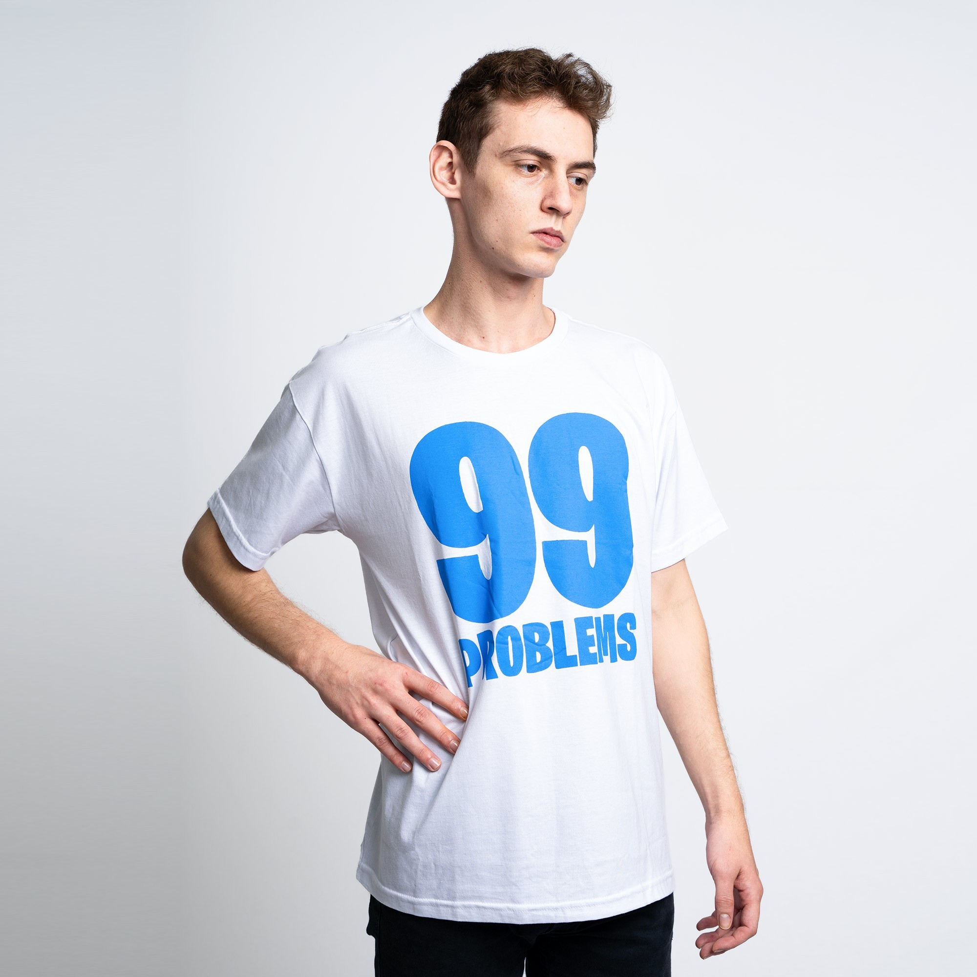 Camiseta 99 Problems Branca