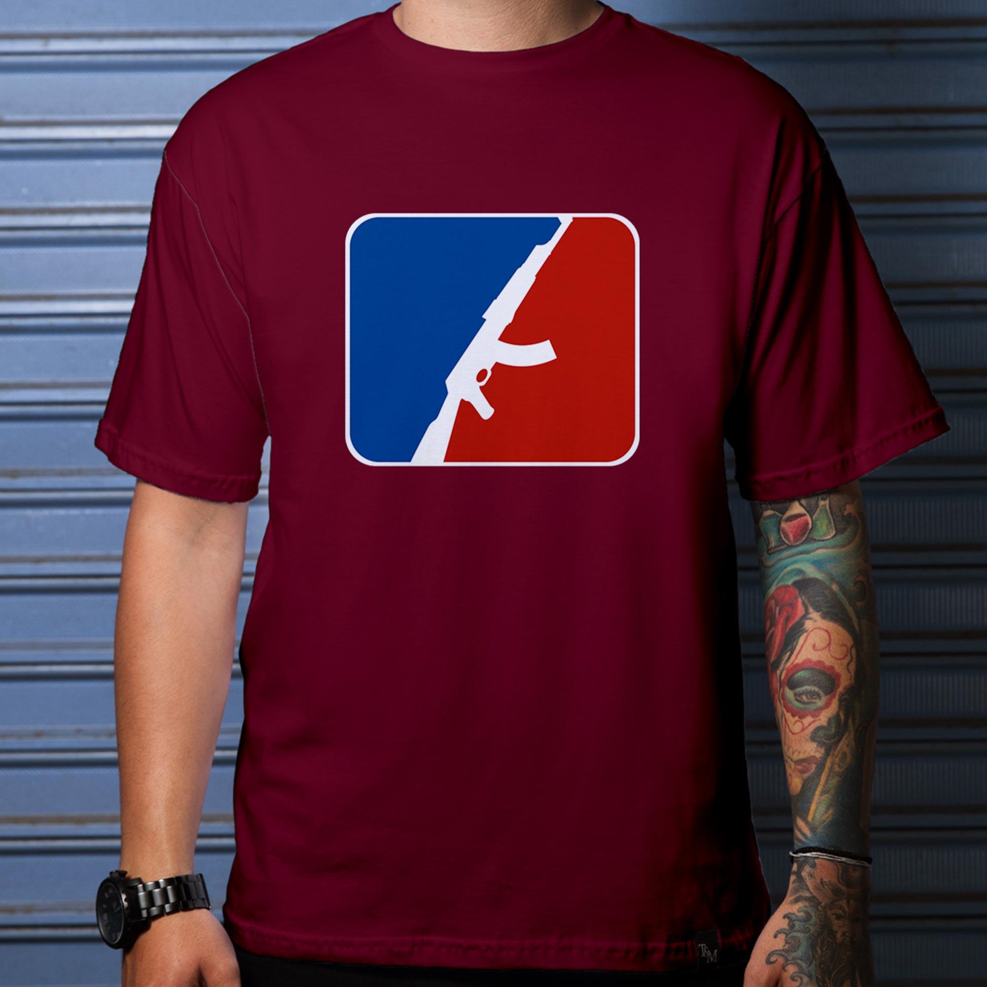 Camiseta Baseball Bordô