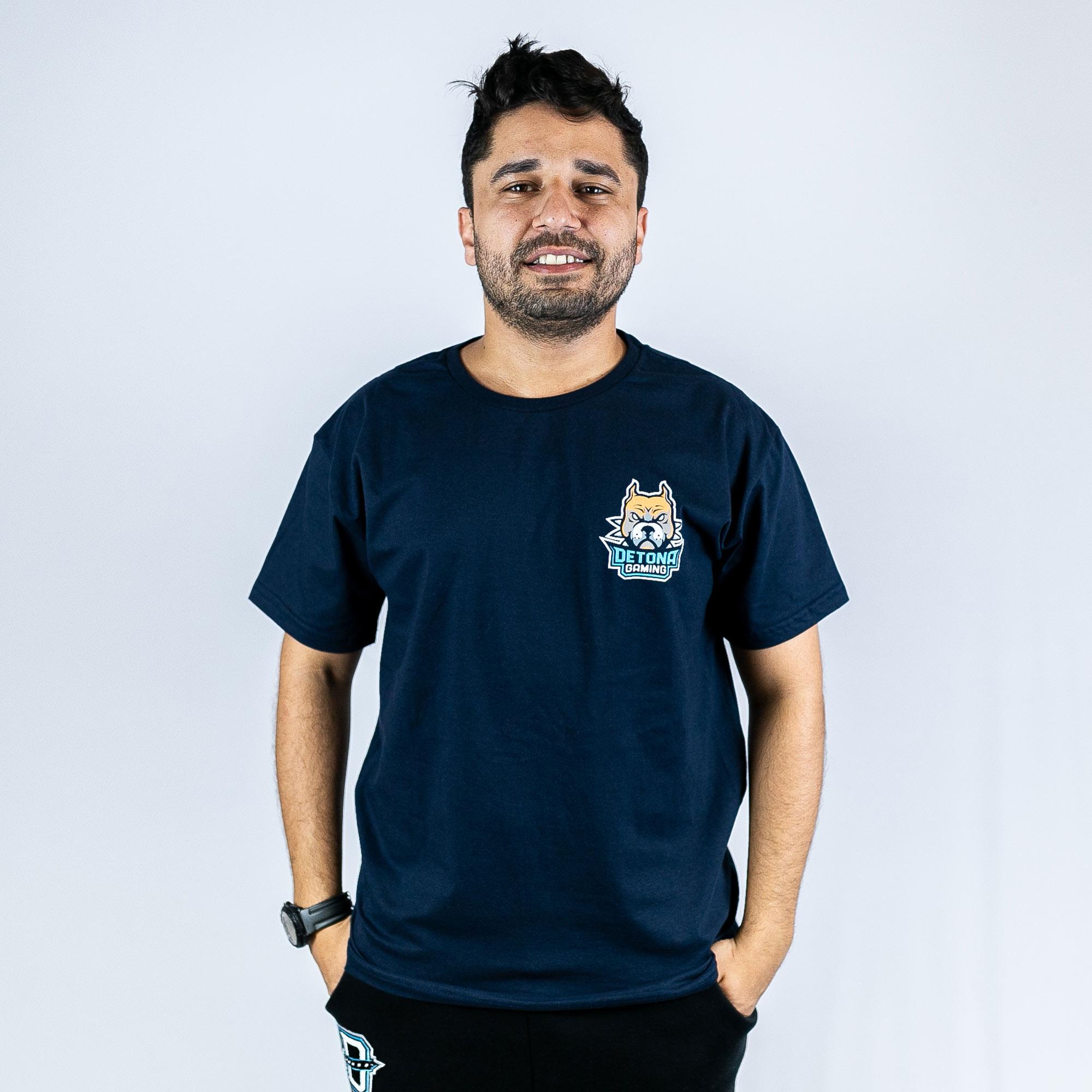 Camiseta Detona Gaming Azul Marinho